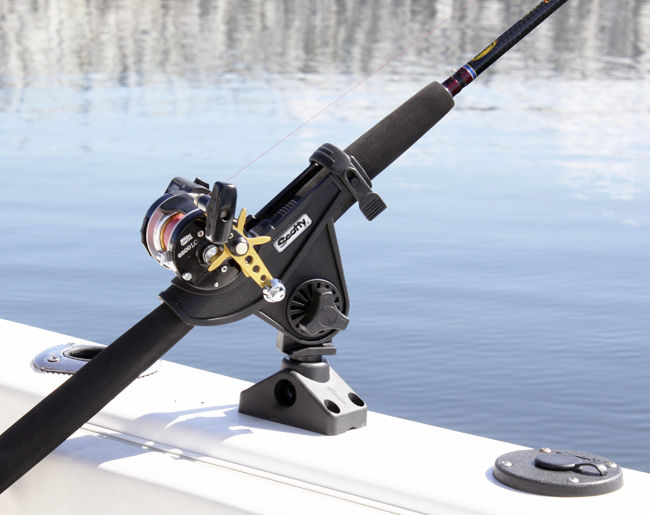 Inflatable Boat Rotate Stainless Steel Fish Pole Holder Boat Fishing Rod Clamp