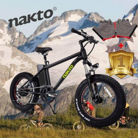 NAKTO Electric Fat Tire Bicycle