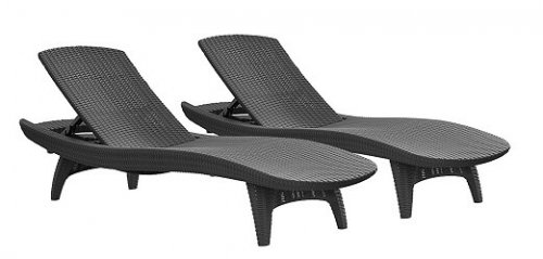 Keter Pacific 2-Pack All-weather Adjustable Outdoor Lounge