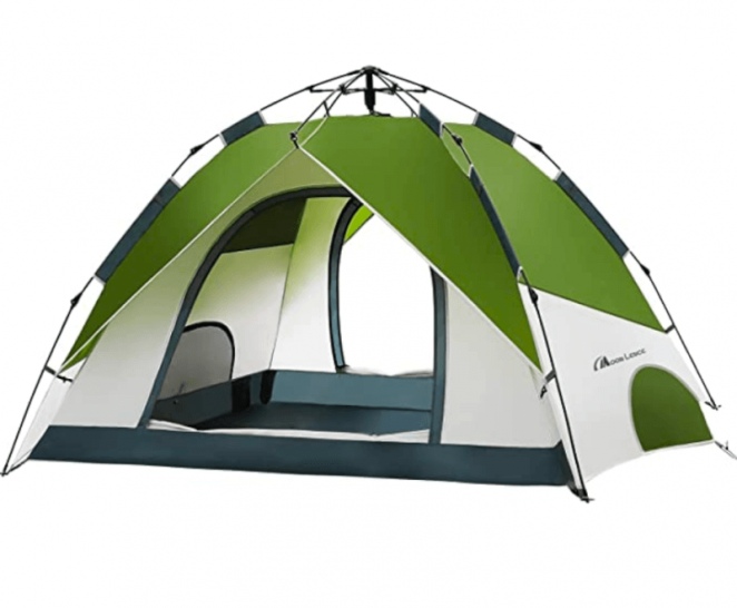 MOON LENCE Pop Up Tent Family Camping Tent 4 Person Tent