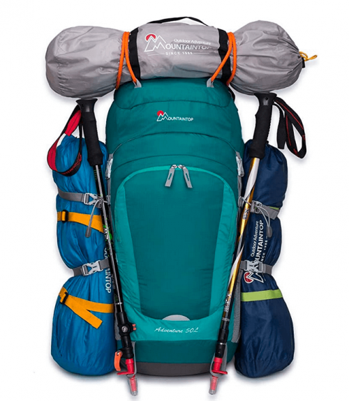 Mountaintop 55L/80L Hiking Backpack with Rain Cover 3