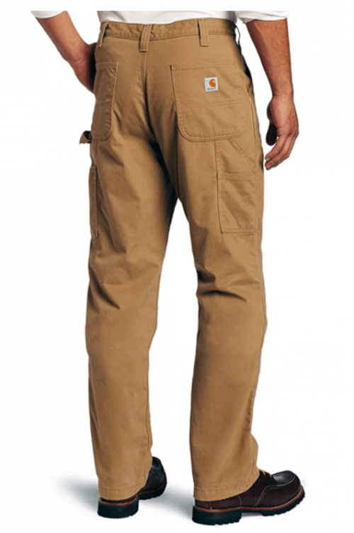 Carhartt Men's Washed Twill Dungaree Flannel Lined pants2