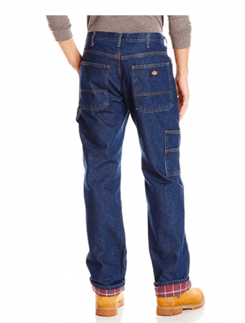 Dickies Men's Relaxed Straight Flannel Lined Carpenter Jean 2