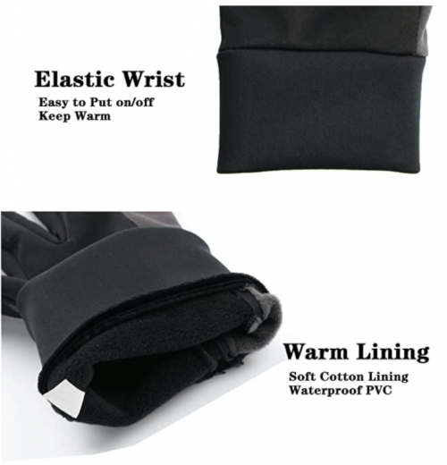 OZERO Winter Gloves for Men Waterproof and Touch Screen  2