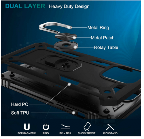 LUMARKE for iPhone 12 Pro Max Case with Screen Protector
