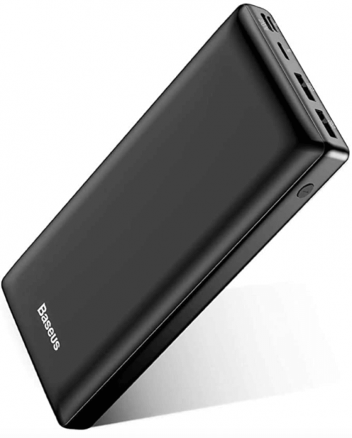 USB C Fast Battery Pack Charger, Baseus Portable Power Bank 30000mAh, 3 Output Port Charger for iPhone 12 Pro Max, Samsung S20