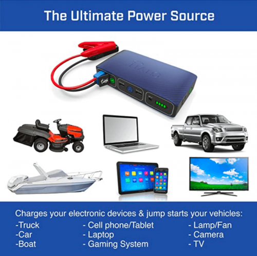 Halo Bolt 58830 Mwh Portable Phone Laptop Charger Car Jump Starter