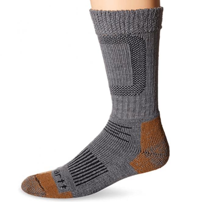 Carhartt Men's Merino Wool Stretch Steel Toe Socks