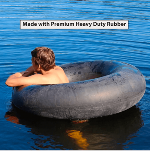 Flexible Flyer Heavy-Duty Snow Tube & Inflatable Water Float. Adult 2-Person Sled.