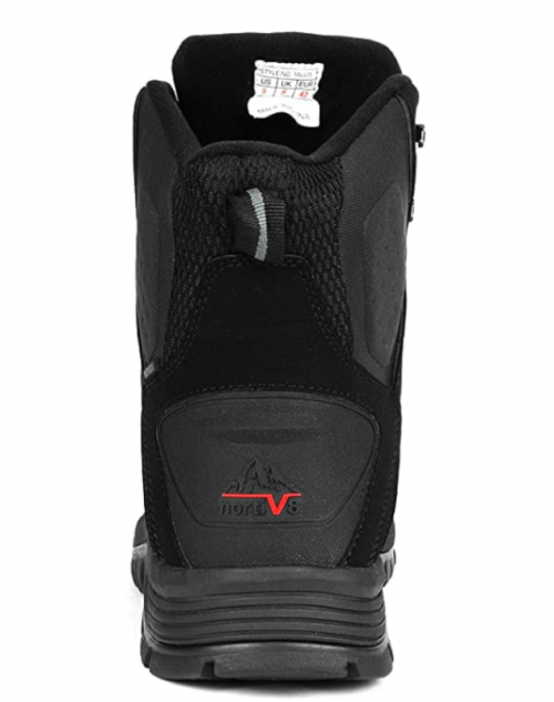 NORTIV 8 Men's 180411 Black Insulated Waterproof Construction Hiking Winter Snow Boots