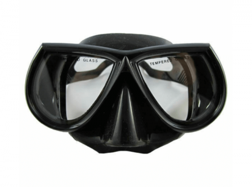 Scuba Choice Scuba Diving Spearfishing Free Dive Low Volume Black Silicone