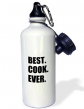 Best Cook Ever-Text Gifts for Worlds Greatest Chef and Cooking Fans Sports Water Bottle